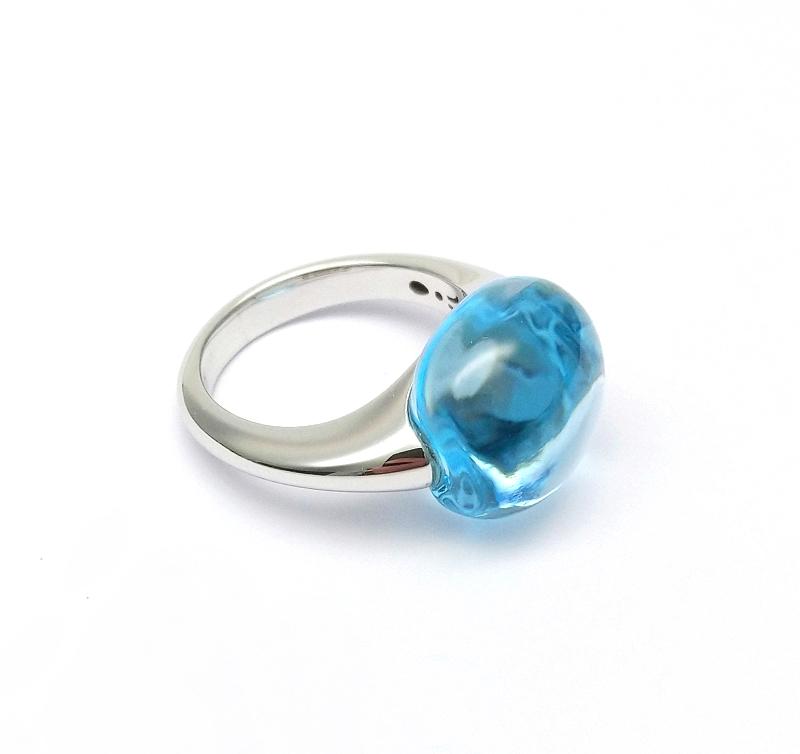 "Blautopas Ring ""Tramonto"""
