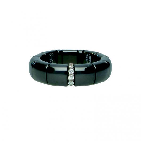Ring PURA 'Diamanti e Ceramica' poliert