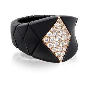 Ring Aura Diva Diamanti brown, poliert