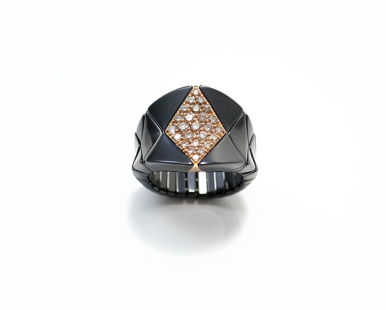 Ring Aura Diva Diamanti brown, poliert
