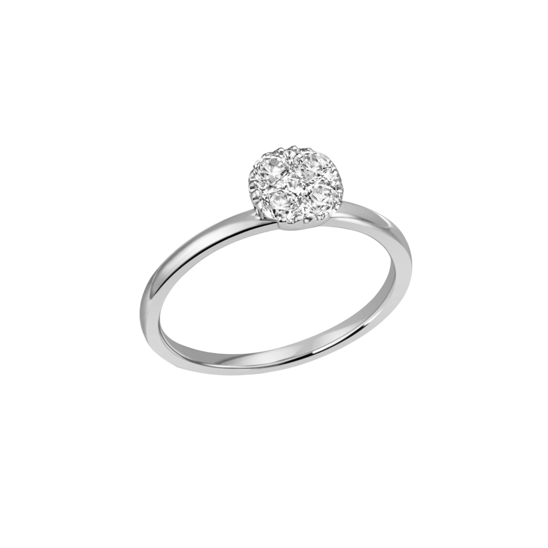 Diana- Diamantring mit Köpfchen