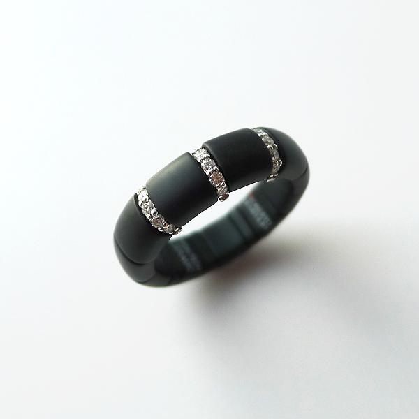 Ring PURA Keramik und Diamanten