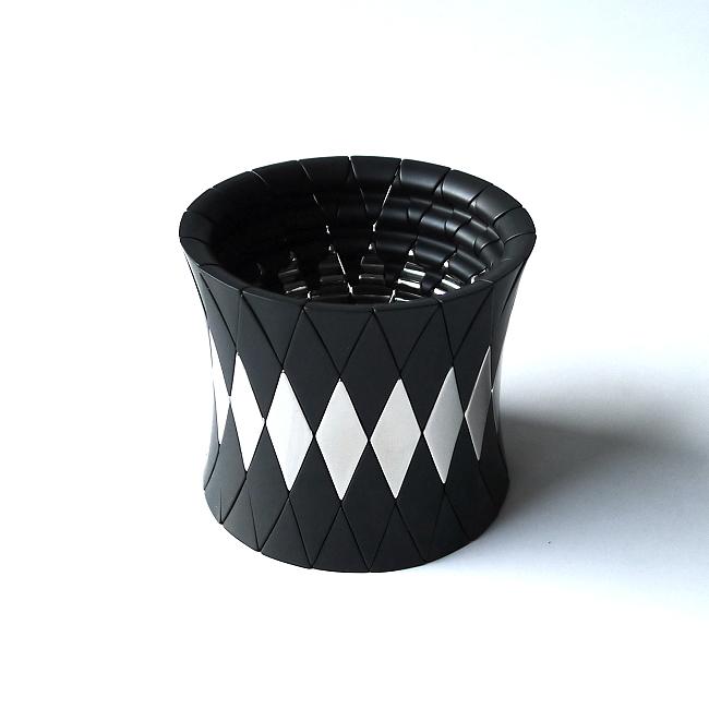 Armreif AURA DIVA ceramica, satinato/bianco
