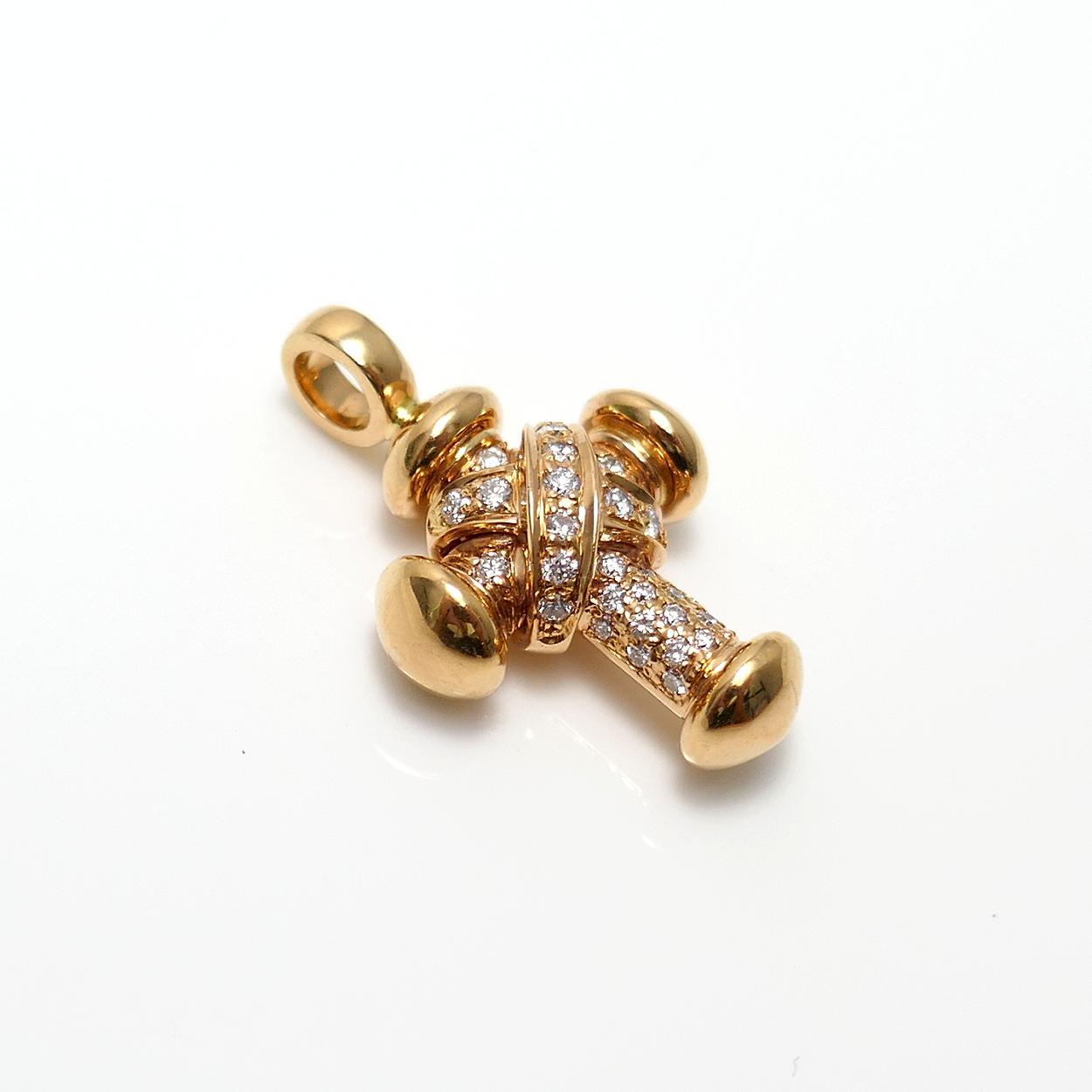 Kleines Brillantkreuz RG Edition von Leo Wittwer