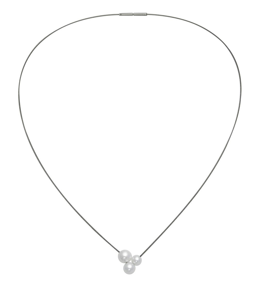 Kleines Drilling Perlen Collier
